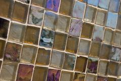 Brown Toned Glass Tile Background-Slanted Stock Images