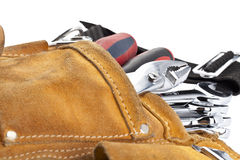 Brown tool belt Royalty Free Stock Photography