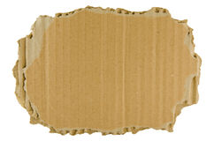 Brown torn cardboard. (isolated on the white background Royalty Free Stock Image