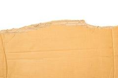 Brown torn cardboard Stock Photography