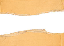 Brown torn cardboard Royalty Free Stock Images