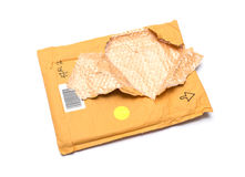 Brown torn envelope Stock Image