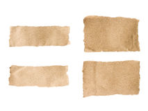 Brown torn paper set Royalty Free Stock Images