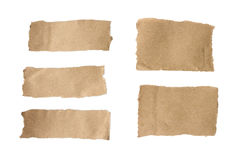 Brown torn paper set Royalty Free Stock Image