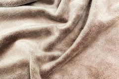 Brown towel. Closeup of a textured brown towel Stock Photography