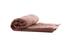 Brown towel Royalty Free Stock Photography