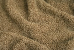 Brown towel terry cloth Stock Image