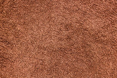Brown towel texture. Royalty Free Stock Photo