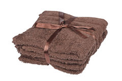 Brown towels Royalty Free Stock Photos