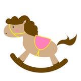 Brown Toy Horse aislado en el fondo blanco libre illustration