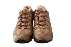 Brown Trainers Royalty Free Stock Image