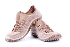 Brown trainers Royalty Free Stock Images