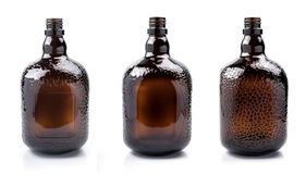 Brown transparent glass bottle. Stock Photography