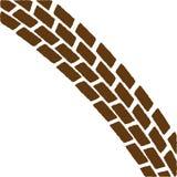 Brown Treadmark Arch Stock Photo