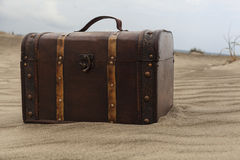 Brown Treasure Chest Royalty Free Stock Image