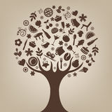 Brown Tree. Vector Stock Images