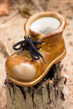 A Brown Trekking Boot Royalty Free Stock Photography
