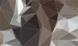 Brown Triangle Abstract Background. Vector Polygonal Pattern of Geometric Shapes Stock Image
