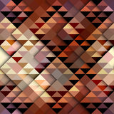Brown triangles pattern. Seamless geometric abstract pattern in aztecs style on brown background Royalty Free Stock Photography