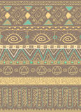 Brown tribal ethnic african pattern design Royalty Free Stock Image