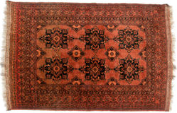 Brown tribal rug Royalty Free Stock Photography