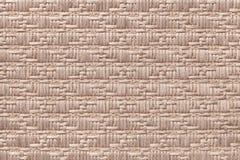 Brown a tricoté le fond de laine avec un modèle de tissu mou et laineux Texture de plan rapproché de textile Photos libres de droits