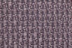 Brown a tricoté le fond de laine avec un modèle de tissu mou et laineux Texture de plan rapproché de textile Images stock
