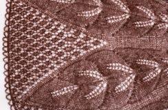 Brown a tricoté le tissu Photos stock