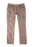 Brown trousers. A casual woman trousers for your outdoor adventure Stock Images