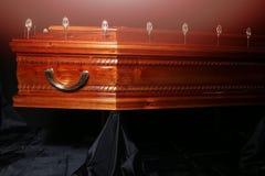 Brown trumna, zakończenie widok zdjęcia royalty free