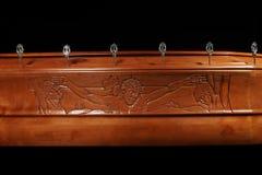 Brown trumna, zakończenie widok fotografia royalty free