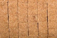 Brown trzciny shugar sześciany Fotografia Royalty Free