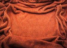 Brown-Tuchrahmen-Beschaffenheitshintergrund stockbilder