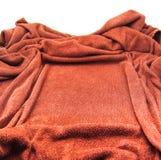 Brown-Tuchrahmenbeschaffenheit lokalisiert lizenzfreies stockfoto