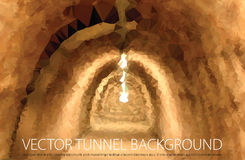 Brown tunnel Stock Photography