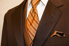 Brown tuxedo Stock Photo