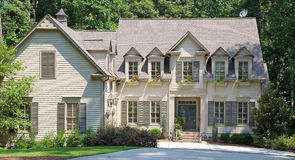 Brown Two Story Siding stock images
