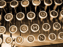 Brown typewriter Stock Images