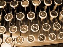 Brown typewriter. A closeup of an old  typewriter Stock Images