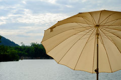 The brown umbrella. Royalty Free Stock Photos
