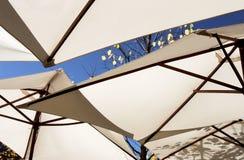 Brown umbrellas Stock Photo