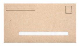 Brown-Umschlag mit Platz für Adresse Stockfoto