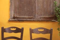 Brown und Gelb in Griechenland Stockfotos