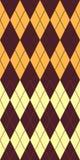 Brown und gelbes argyle stock abbildung