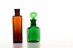 Brown und grüne Flasche Stockfoto