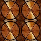 Brown und rundes 3D Stockbild