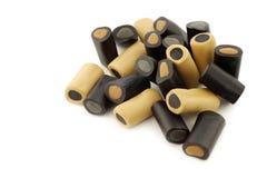 Brown und schwarze Lakritze Lizenzfreies Stockfoto