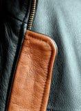 Brown und schwarze Lederjacke Lizenzfreie Stockfotos