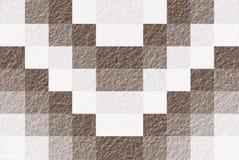 Brown und Weiß-Block-Muster-Zusammenfassungs-Hintergrund nahtlos Lizenzfreies Stockbild
