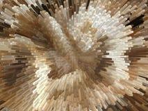 Brown und weiße Explosion Stockbild